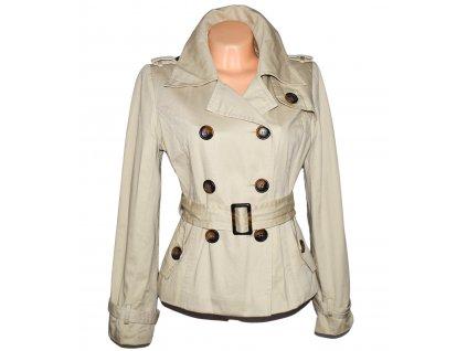 Bavlněný dámský béžový kabát s páskem L