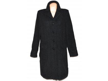 Vlněný (70%) dámský šedočerný kabát Eddie Bauer (vlna, kašmír) XXL