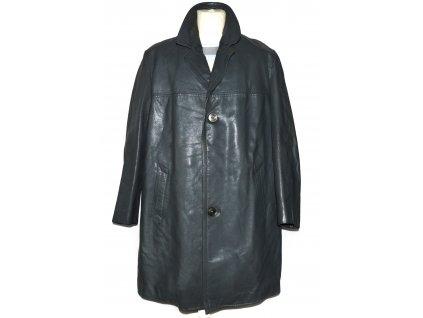 KOŽENÝ pánský šedý kabát s odnimatelnou vložkou 54