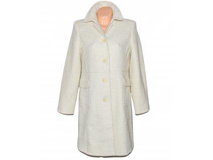 Vlněný dámský smetanový kabát EWM L