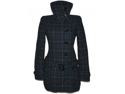 Vlněný dámský kabát s páskem TOPSHOP M