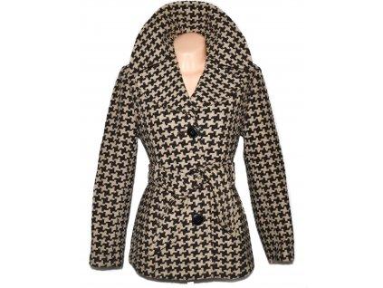 Dámský béžovo-hnědý kabát s páskem Marks&Spencer XL