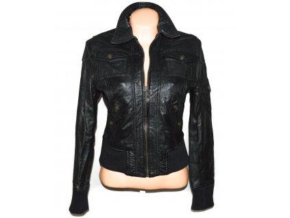 KOŽENÁ dámská černá měkká bunda GIPSY L