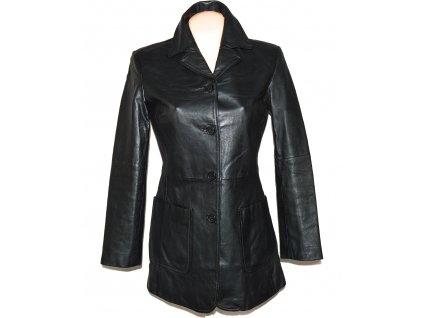 KOŽENÝ dámský černý kabát ROY/RENE 36