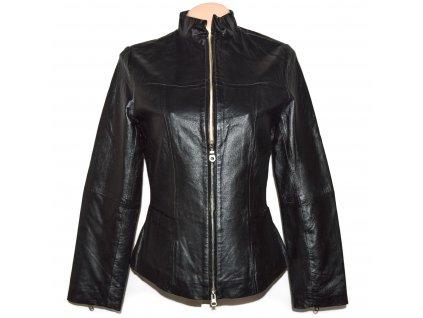 KOŽENÁ dámská černá měkká bunda na zip WETH M