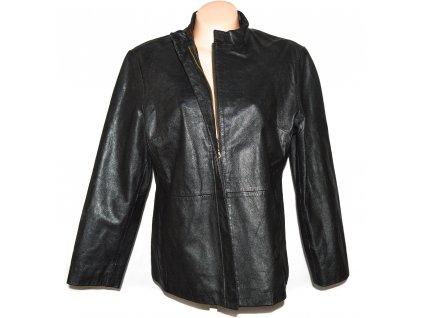 KOŽENÁ dámská černá měkká bunda na zip Modern Classics 18/44