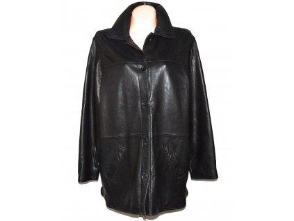 KOŽENÝ dámský černý měkký kabát Leather Elements XXL