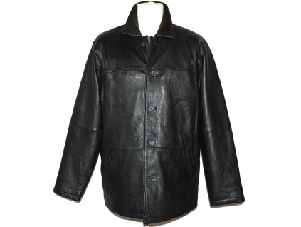 KOŽENÁ pánská černá měkká zateplená bunda Paul Berman M/L