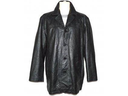 KOŽENÁ pánská černá měkká bunda EXCELLED XL