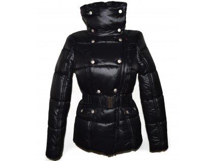 Dámský černý prošívaný zimní kabát s páskem Cherokee S - s cedulkou