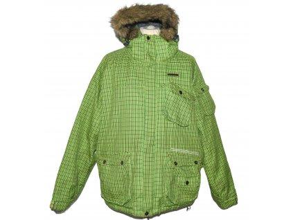Lyžařská pánská zelená bunda s kapucí HORSEFEATHERS L