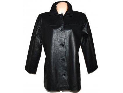 KOŽENÝ dámský černý měkký kabát CERO XXL