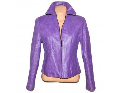 KOŽENÁ dámská fialová bunda BIBA 38