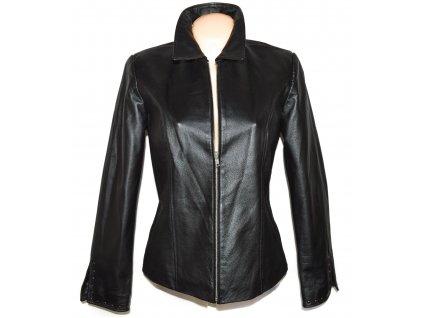 KOŽENÁ dámská černá bunda na zip TOGETHER M
