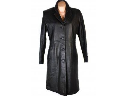KOŽENÝ dámský černý kabát s odnimatelnou vložkou MARREX XL