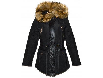 Dámská černá zimní parka s kapucí GLO-STORY M