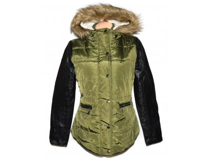 Dámská khaki zelená zimní parka s kapucí MSHLL GIRL L