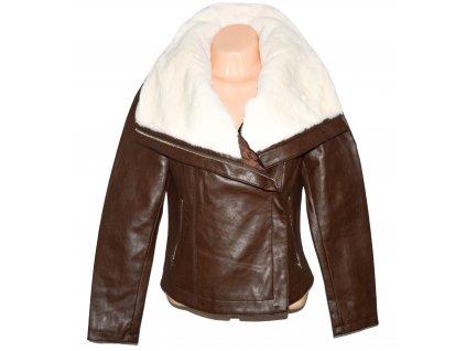 Dámský hnědý koženkový křivák s kožíškem ORSAY M