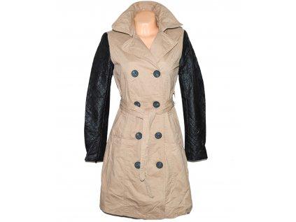 Bavlněný dámský béžový kabát s páskem Glo-Story M