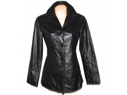 KOŽENÝ dámský černý měkký kabát Wilsons Leather XS/S