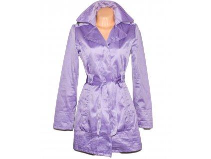 Bavlněný dámský lila kabát s páskem ORSAY 40