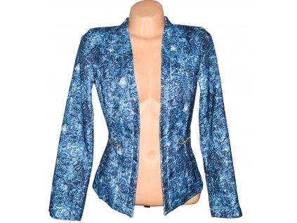 Dámské vzorované modrobílé sako - kardigan Bodyflirt  M