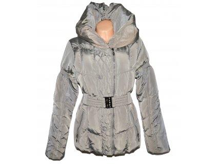 Dámský prošívaný zimní kabát s páskem a límcem FOREST L