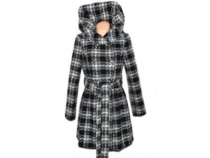 Dámský černobílý kabát s páskem Union Star M