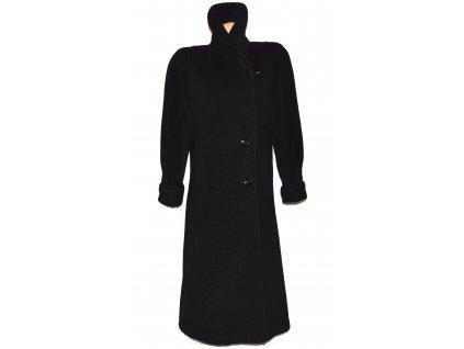 Vlněný (65%) dámský dlouhý černý kabát (vlna, kašmír) XL