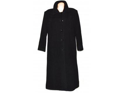 Vlněný dámský dlouhý zimní černý kabát Janmar XXXL