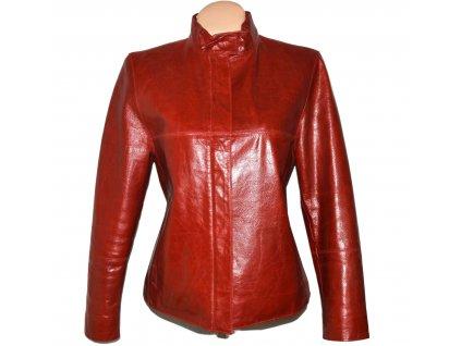 KOŽENÁ dámská červená bunda na zip C&A 14/40