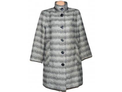 Vlněný dámský černobílý kabát Prostějov 48
