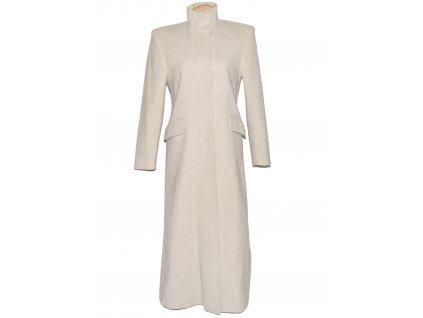 Vlněný (70%) dámský dlouhý béžový kabát Ritmo mode (vlna, kašmír) 36