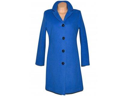 Vlněný (70%) dámský modrý kabát (vlna, kašmír) ELBA 40