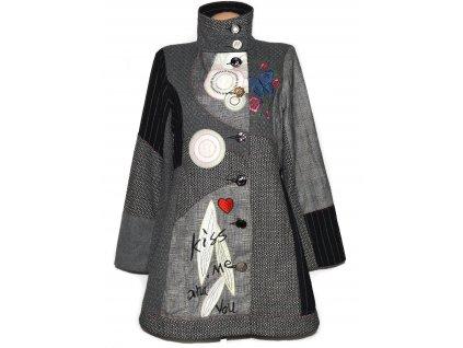 Extravagantní dámský žakárový kabát DY DESIGN XL