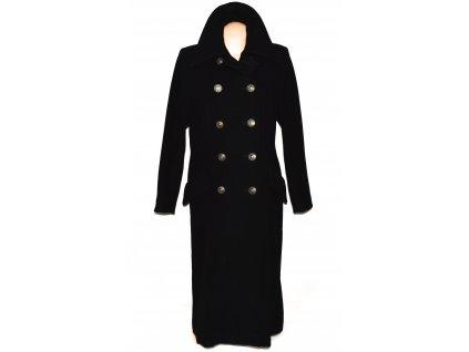 Vlněný (70%) dámský černý dlouhý kabát Claudia Corelli (vlna, kašmír) 40