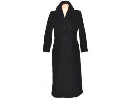 Vlněný (65%) dámský dlouhý šedočerný kabát Damo Donna L