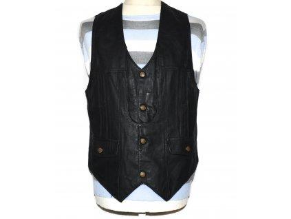 KOŽENÁ pánská černá měkká vesta Inter Leather L