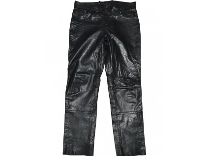 KOŽENÉ černé kalhoty Louis