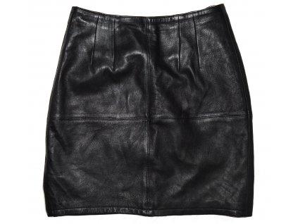 KOŽENÁ dámská černá měkká sukně UK 12