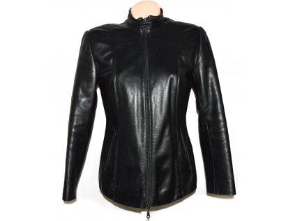 KOŽENÁ dámská černá měkká bunda na zip Kožex M