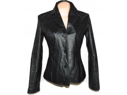 KOŽENÉ dámské černé měkké sako Lenmar 38