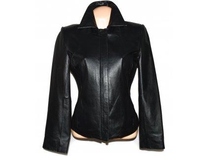 KOŽENÁ dámská černá měkká bunda na zip Thomas & Daniels 38