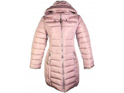 Dámský zimní prošívaný starorůžový kabát s kapucí Garoff S