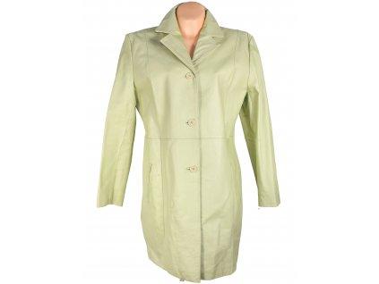 KOŽENÝ dámský zelený kabát Different 46