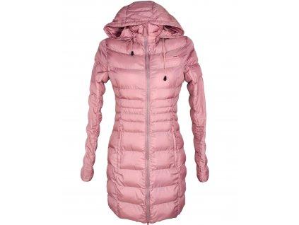 Dámský růžový prošívaný kabát s kapucí LOAP S