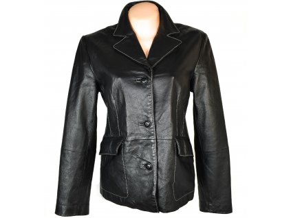 KOŽENÉ dámské černé měkké sako L