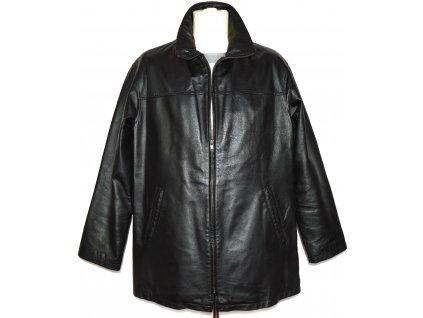 KOŽENÁ pánská černá měkká bunda na zip s odnimatelnou vložkou CERO XXL