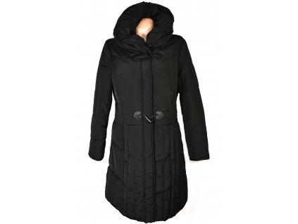 Dámský černý prošívaný kabát s límcem C&A 44