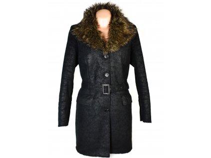 Dámský černý kabát s kožíškem F&F 44